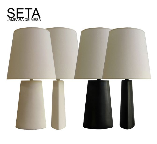 SETA. LAMPARA DE MESA
