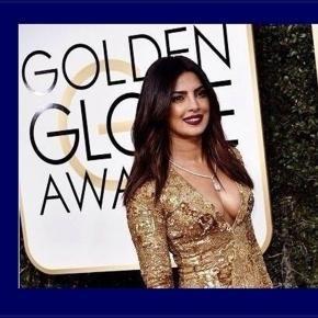 Priyanka Chopra stunning outfit on Golden Globe red carpet #GoldenGlobeAwards
