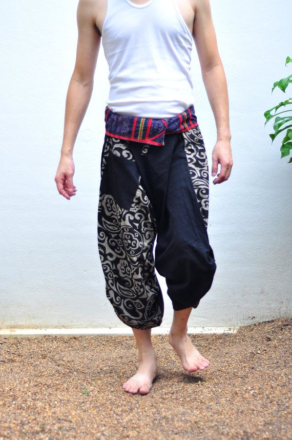 FedEx to USA Mens Thai pants Thai fishermen pant by SiamTrendy, $35.00