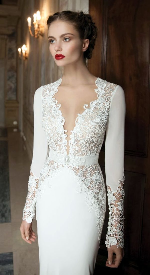 Berta Bridal Wedding Dress with Lace Detail