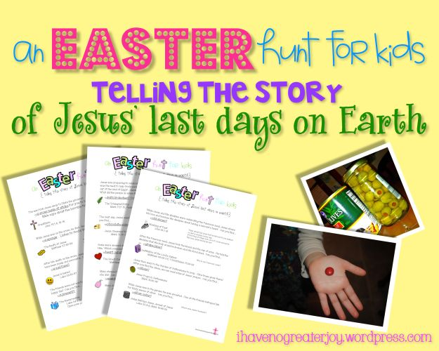 A Christian Easter Hunt Telling the Story of Jesus' Last Days on Earth {printable}