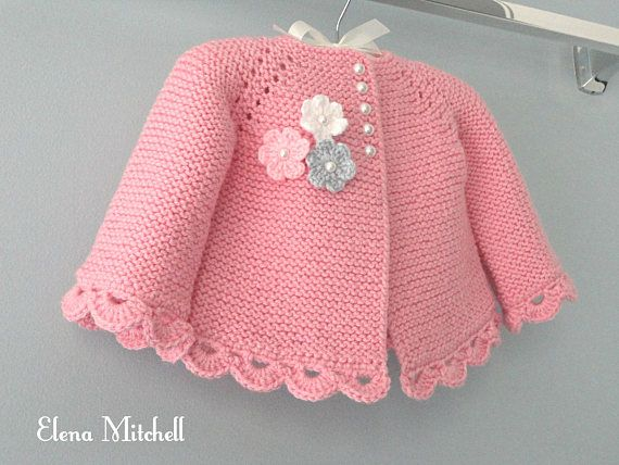 Knitting PATTERN Baby Jacket Baby Cardigan Garter stitch Knit