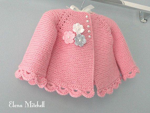 Knitting PATTERN Baby Jacket Baby Cardigan Garter stitch Knit