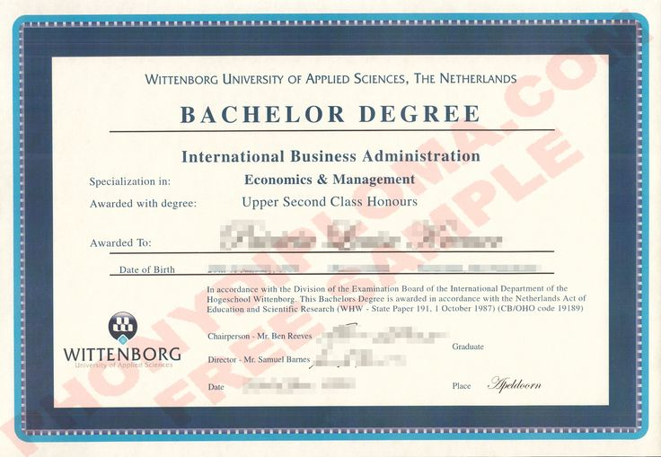Wittenborg University of Applied Sciences Fake Netherlands University Diploma from PhonyDiploma- http://www.phonydiploma.com/Departments/Samples/Fake-Diploma-Samples-from-Netherlands.aspx