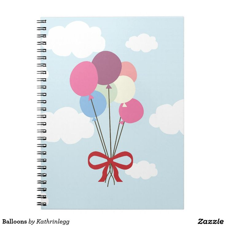 Balloons Note Book by Kathrin Legg