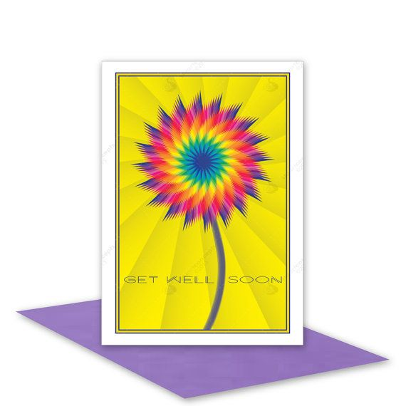 Give a cheerful card to someone not felling so well. It will inspire them to feel better sooner! by stuARTconcepts available on Etsy # handmade #sympathy #card #getwell