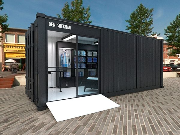 Exhibition Design & HDRI Rendering for the Ben Sherman's Container Shop.                                                                                                                                                                                 More