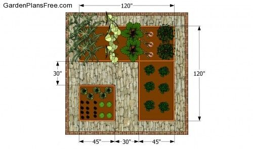 vegetable garden layout small space - Google Search