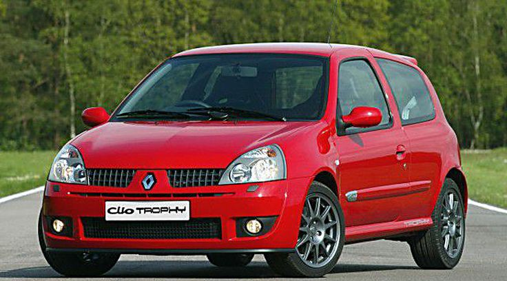 Model: Clio Renaultsport 182 Trophy Price: £15,500, on sale now Engine: 1,998cc, four cylinders, 16 valves, 182bhp at 6,500rpm, 148lb ft at 5,250rpm Transmission: five-speed gearbox, front-wheel drive Performance: 140mph, 0-60 in 6.8sec, 34.9mpg official average CO2: 194g/km