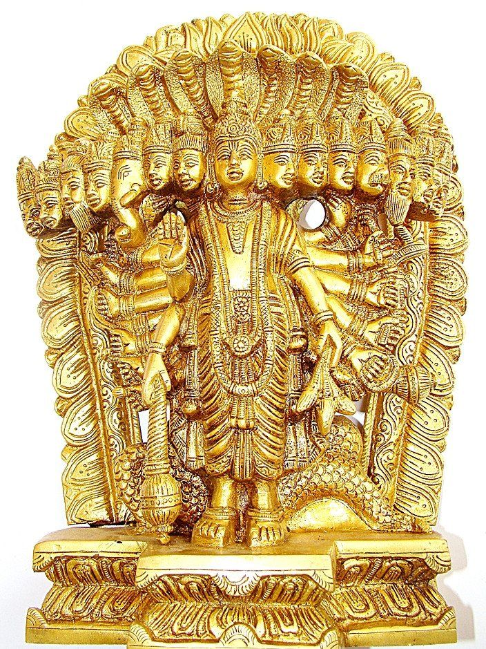 Lord Vishnu Virat Swaroop Statue - Made in Brass