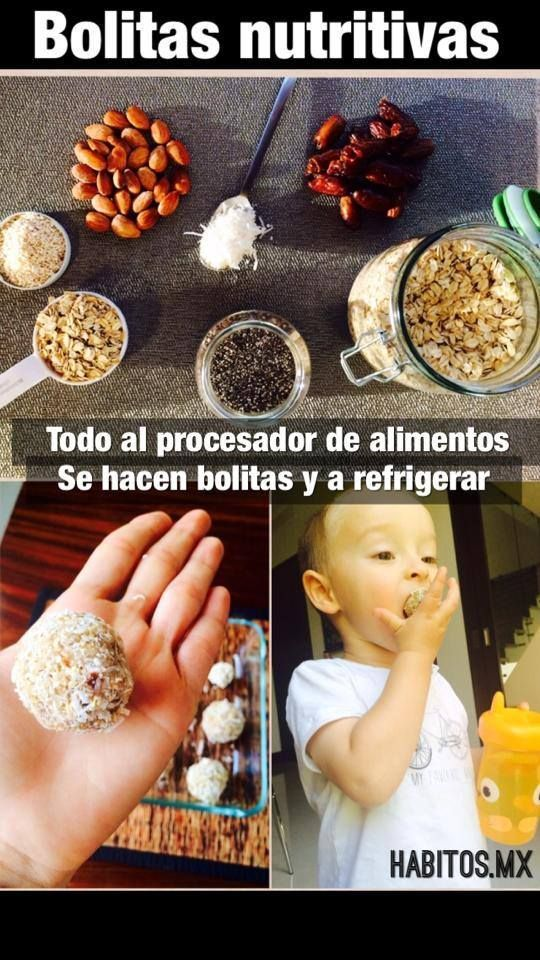 ¡Bolitas nutritivas! Snack para nuestros NIÑOS!
