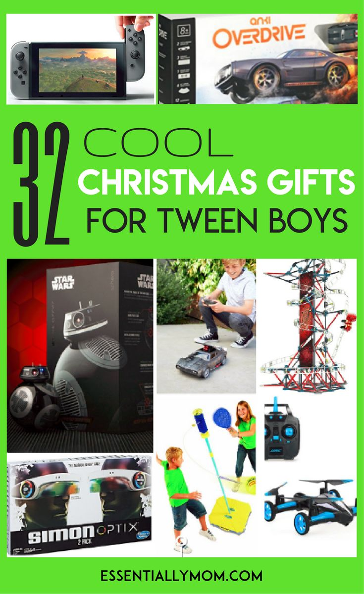 Searching for the right gift for 10 to 12-year-old boys can be a bit challenging. For Christmas 2017, there are tons of new toys and games that are perfect for this age group. From robots to smartphone-enabled race cars to classic board games, there are lots of awesome choices. These 32 Christmas gifts for tween boys that he's sure to enjoy this holiday season!