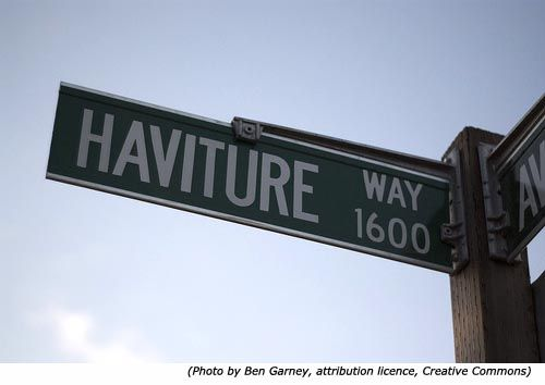 Funny street names and funny road signs: Haviture Way!