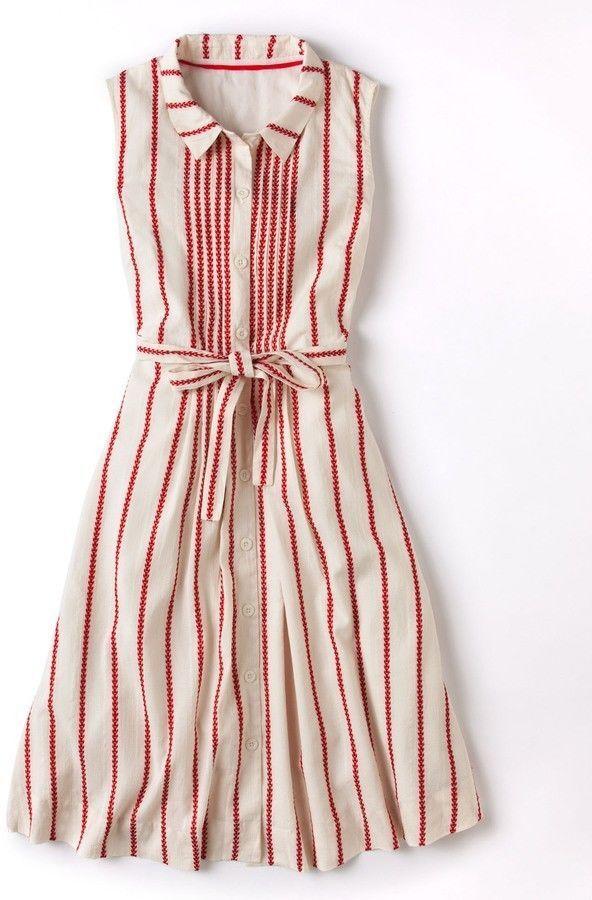 BODEN MONTE CARLO SLEEVELESS COTTON SUMMER DRESS UK SIZE 6 OR 8  | eBay