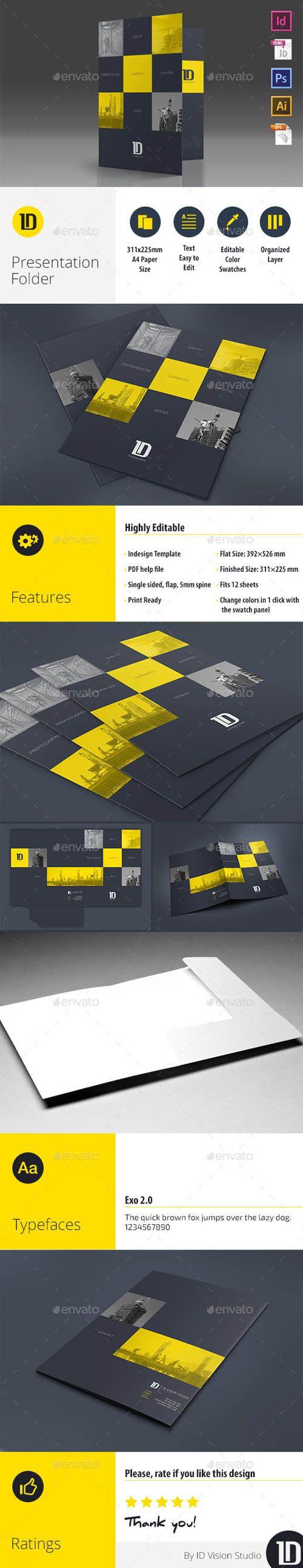 A4 Self Locking Multipurpose Presentation Folder 002