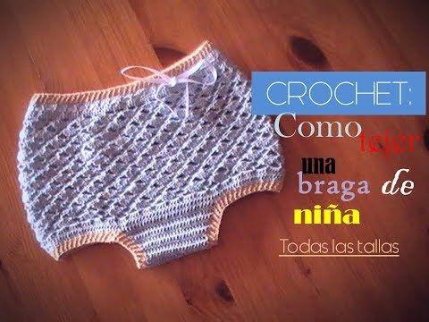 Como tejer una braga a crochet TODAS LAS TALLAS