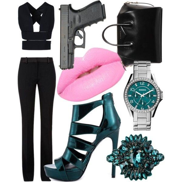 Hogwarts Secret Agent - Slytherin by briana-mason94 on Polyvore featuring STELLA McCARTNEY, Victoria Beckham, Steve Madden, Givenchy, Andrea Incontri, FOSSIL and Lime Crime #hogwarts #secret #agent #spy #slytherin #polyvore