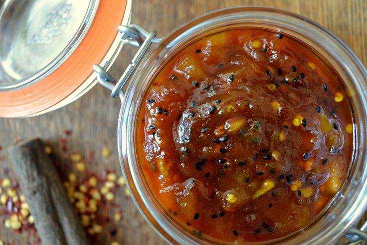 Mango Chutney with a Hint of Kick - A sweet, fragrant and spicy mango chutney. Pairs well with cheese and all manner of Indian food.