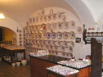 Modra pottery, Slovakia--a really near, old fashioned pottery shop. Now their folksy style is often imitated by larger manufacturers. Everything here is still done by hand...fun to visit and watch!