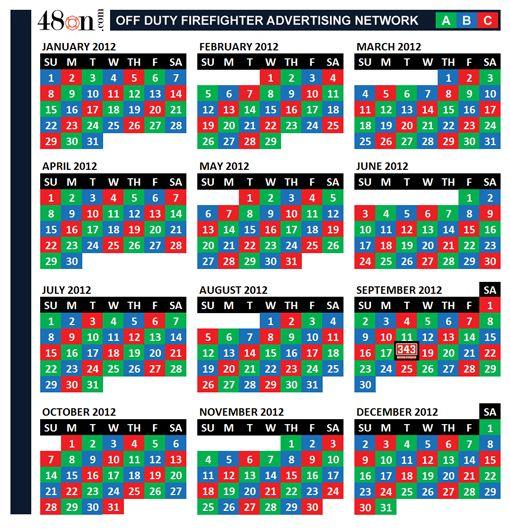 2016 Firefighter Shift Calendar 24 | Calendar Template 2016