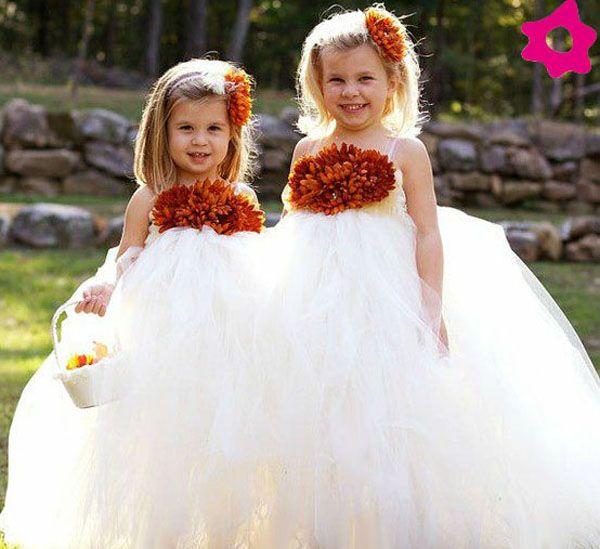 Vestidos de meninas das alianças estilo bailarina. #casamento #meninasdasalianças #vestidos
