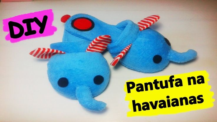 [DIY] Pantufa de elefantinho na havaianas