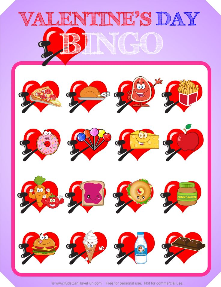 144 best Valentines Day Ideas Candy Grams Crafts Cards Games – Valentines Day Bingo Cards
