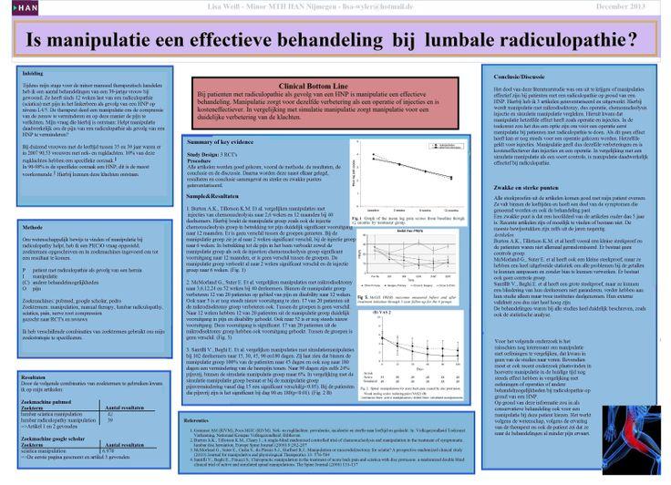 Is manipulatie een effectieve behandeling bij lumbale radiculopathie?  Lisa Weiß