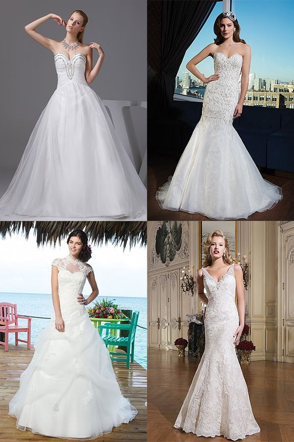 11 curated wedding dresses for inverted triangle for Wedding dresses for broad shoulders