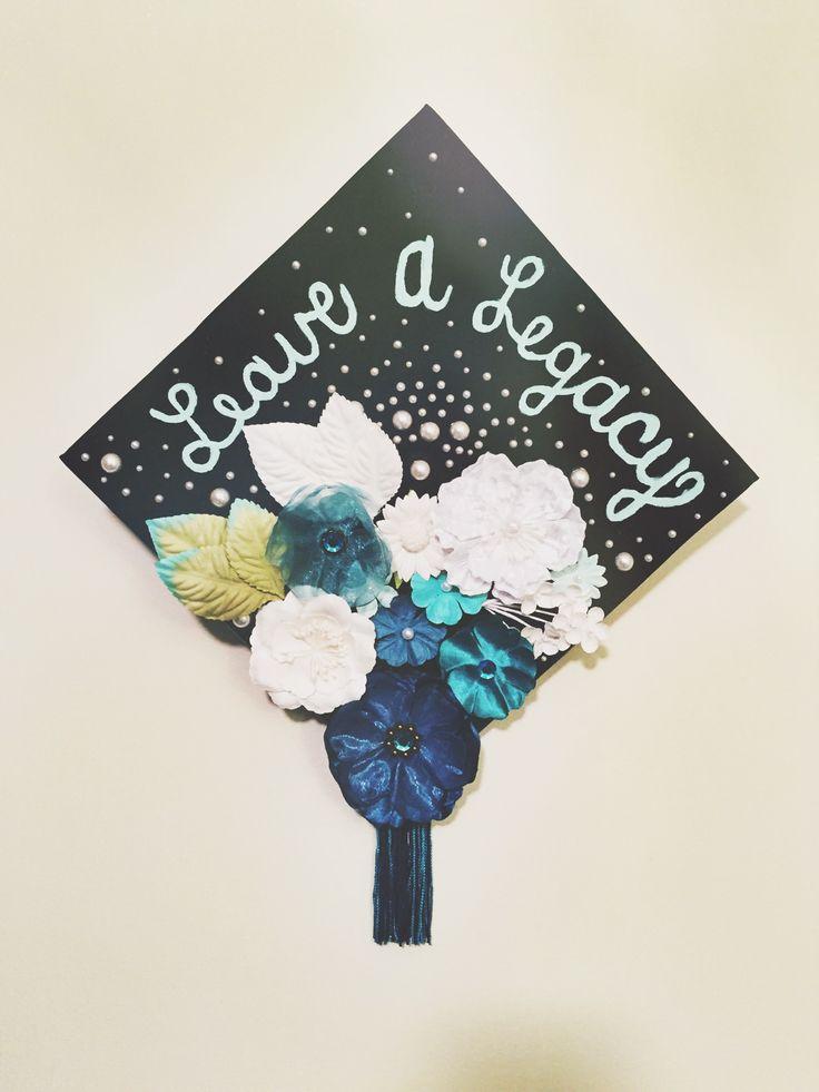 Uncw Class Of 2015 Graduation Cap Capdecorations Teal