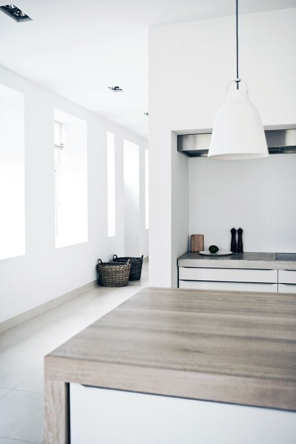 Wooden kitchen bench top