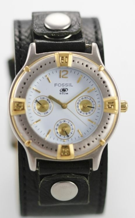 Fossil Big Tic Men's Leather Stainless Water Resistant Quartz Battery Watch