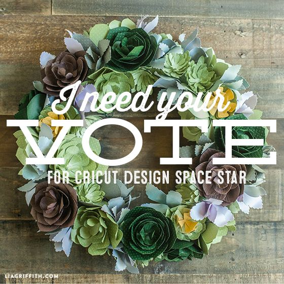 Help Me (Please) be the Cricut Design Space Star | Lia Griffith.     I voted for her project! I love love love her designs, projects & blog!