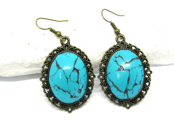 Excited to share the latest addition to my #etsy shop: #Blue turquoise earrings, #Turquoise earrings, #Turquoise lover gift, Blue earrings, #Women #jewelry #gift, Blue #drop #earrings, Valentines jewelry #jewelry #earrings #blue #birthday #ceramic #earwire #boho #girls http://etsy.me/2DIhJUl