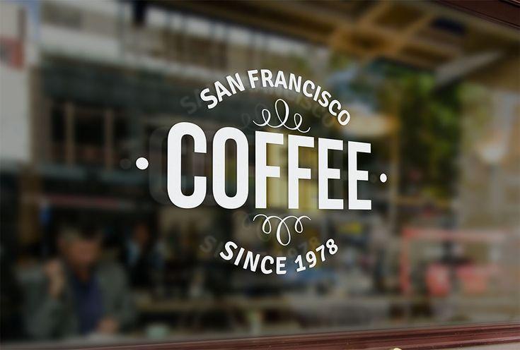 free logo mockup - window signage logo mockup #freebies