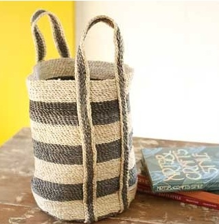 Find this designer selected, hand-woven basket at our online boutique www.countryvilladecor.com  www.country-villa-decor.com
