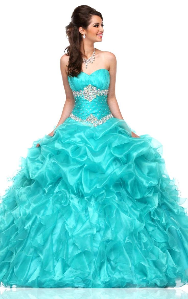25 Best Ideas About Turquoise Quinceanera Dresses On