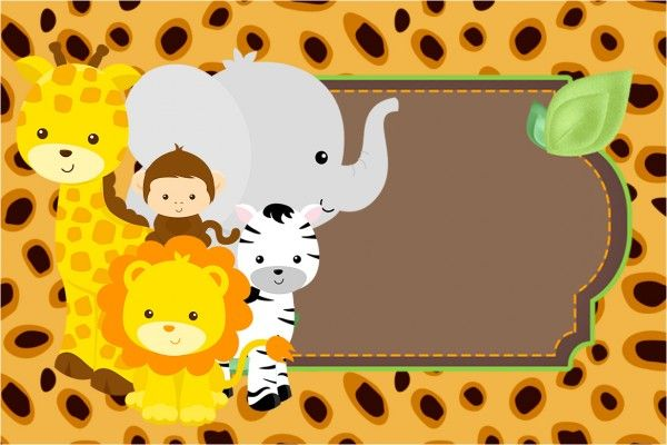Convite e Cartão Safari