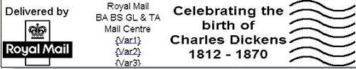 Herausforderung: Sonderstempel für Charles Dickens nur echtlaufend