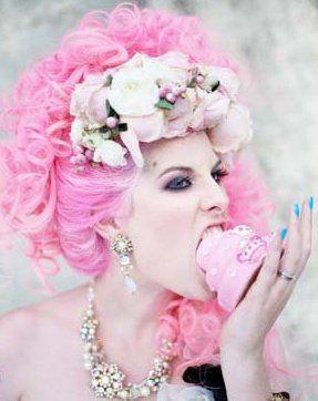 pink hair Rock n Roll Bride