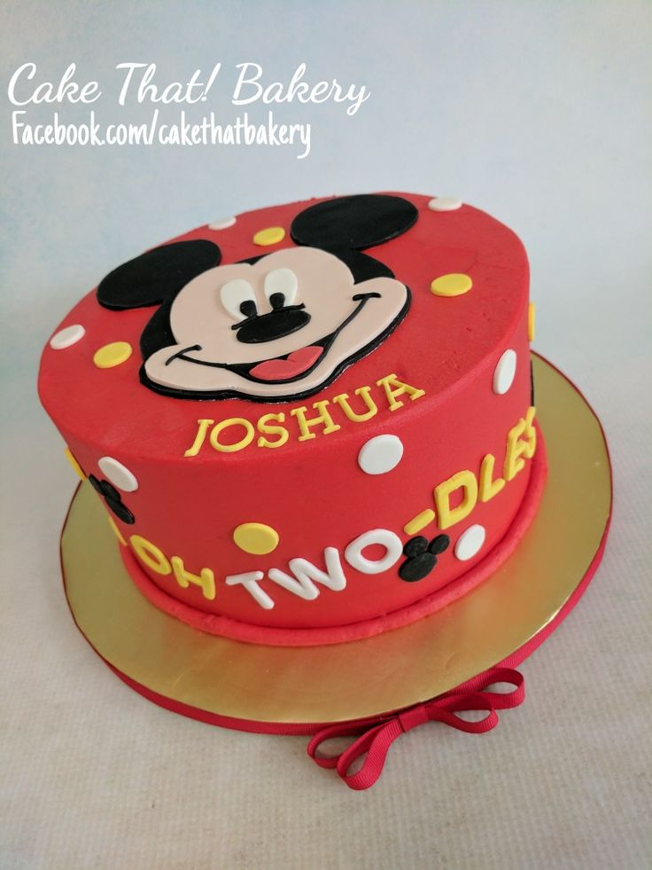 Mickey Mouse Toodles 2nd Birthday Cake Two Dles Cakes