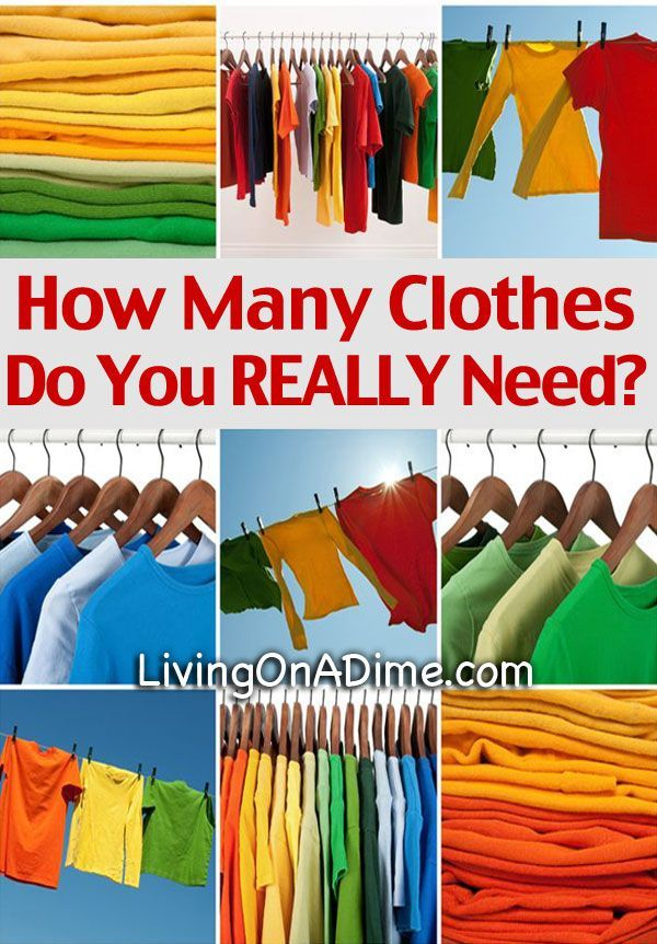 How Many Clothes Do I Need? Organizing clothing and reducing clothing related hassles.