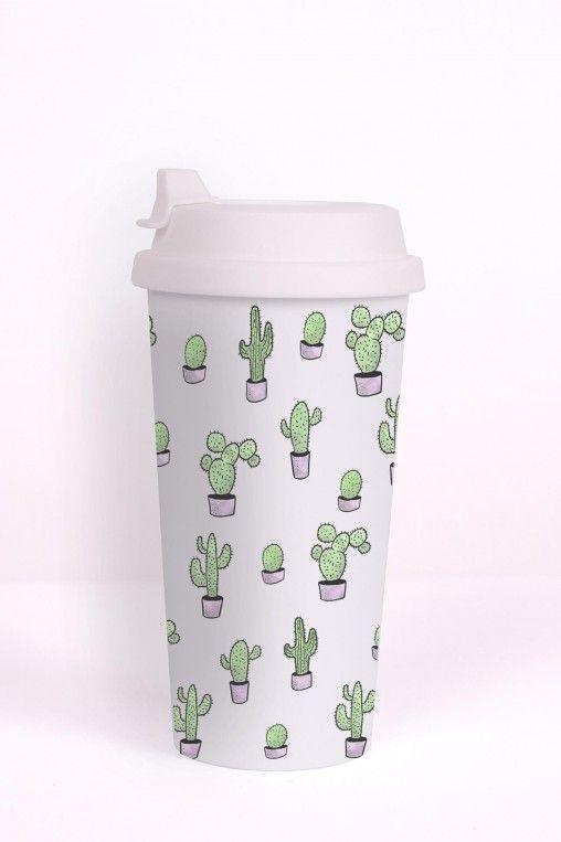 Termo Bögre Tumbler Cactus White