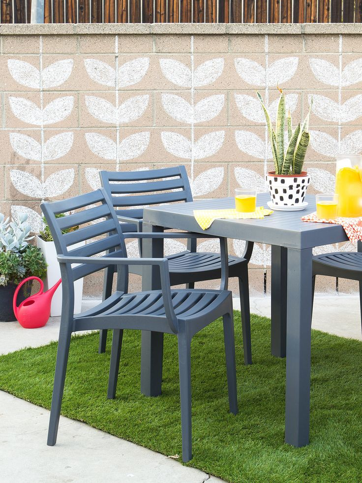 Dress Up A Cinder Block Wall With Chalk Paint