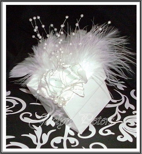 Simply Elegant White Wedding In Feather Plumes Favor Boxes