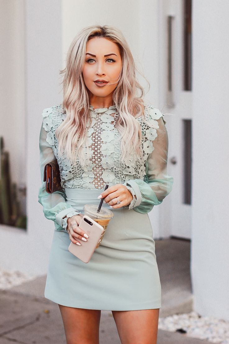 Blondie in the City   Elegant Mint Colored Dress @chicwish