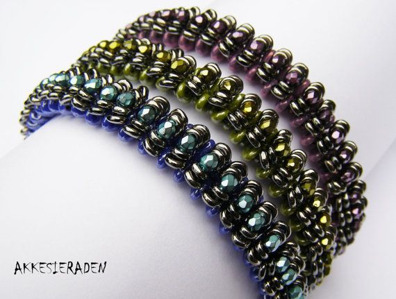 Hey, I found this really awesome Etsy listing at https://www.etsy.com/listing/192399898/pattern-caterpillar-bangle-with-o-beads