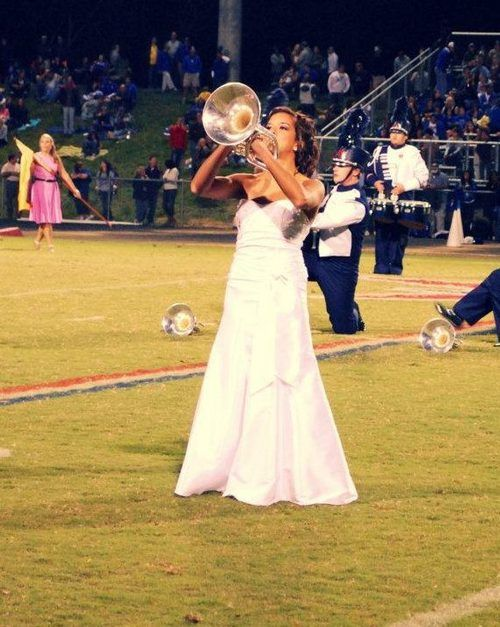 Yes. She was on homecoming court AND in the band. This is how you do it. P.S. GO MELOPHONES!!!!!!