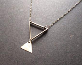Driehoek ketting ketting van driehoeken faken het door aptoArt