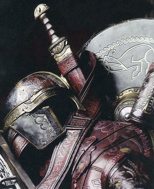 sword, helmet and shield
